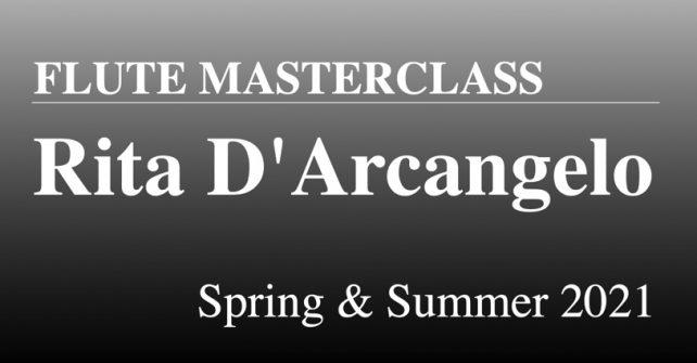 リタ・ダルカンジェロによるフルートマスタークラス 2021春・夏